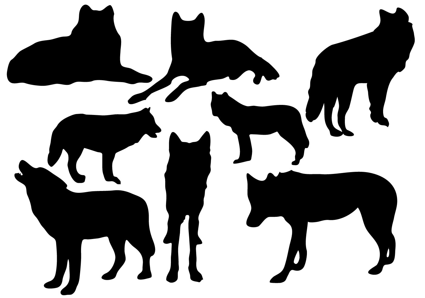 wolf silhouette vector howling wolf silhouette and full moon vector free download silhouette vector wolf