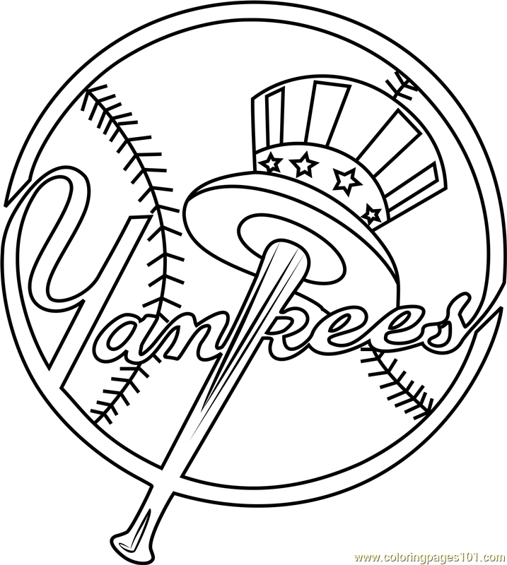 yankees coloring pictures pics of new york yankees logo coloring home coloring pictures yankees