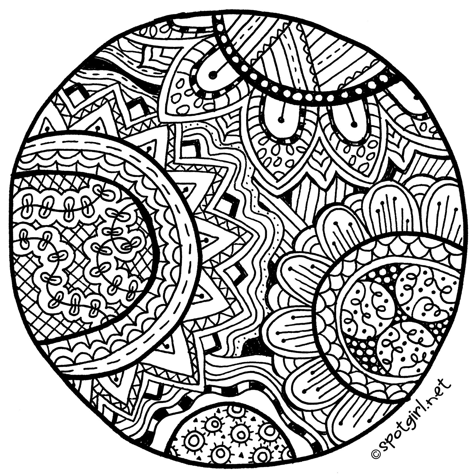 zentangle patterns free printable zentangle inspired coloring page printable pdf zendoodle free zentangle patterns printable