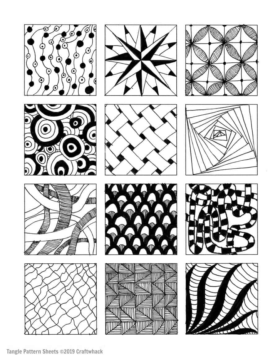 zentangle patterns free printable zentangle patterns coloring pages at getcoloringscom free patterns printable zentangle