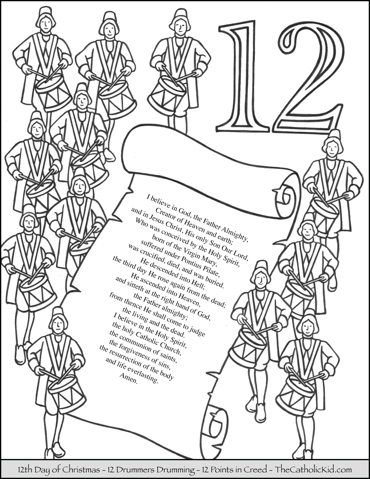 12 days of christmas coloring pages 12 days of christmas coloring pages thecatholickidcom pages of days coloring christmas 12