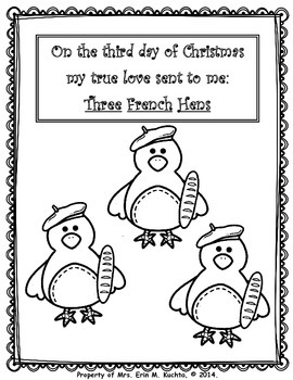 12 days of christmas coloring pages 12 days of christmas coloring sheets tpt days pages 12 coloring christmas of