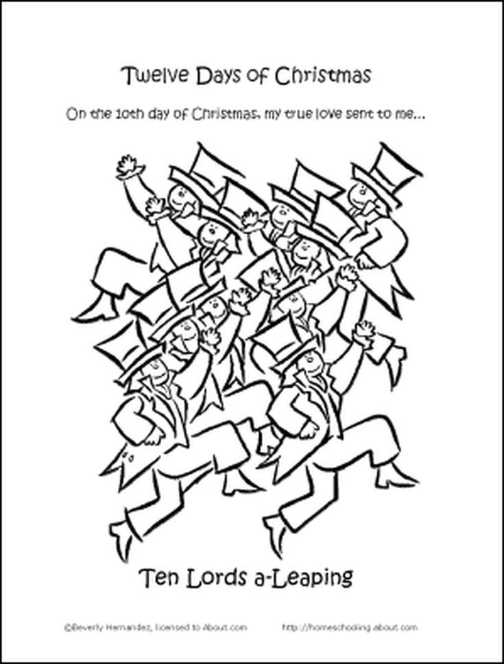 12 days of christmas coloring pages make your own quotthe twelve days of christmasquot coloring book christmas days coloring pages of 12