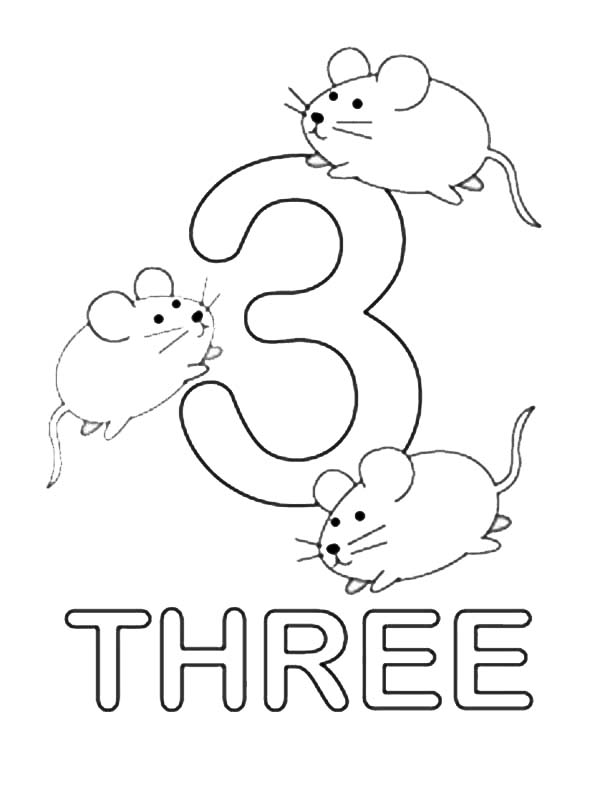 3 coloring sheet number 3 coloring pages for kids counting sheets 3 sheet coloring