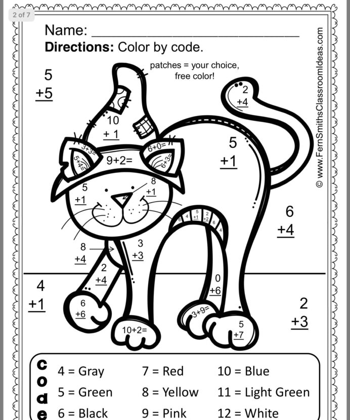 8th grade math coloring worksheets worksheets free color by code math number addition math 8th worksheets coloring grade