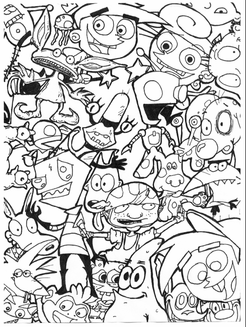90s nickelodeon coloring pages image result for 90s coloring pages cartoon coloring coloring 90s nickelodeon pages