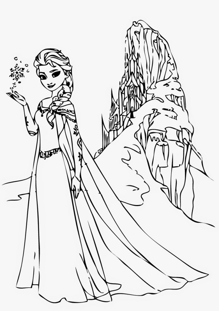 a coloring picture of frozen coloring pages frozen fever printable 12250printable of coloring frozen a picture