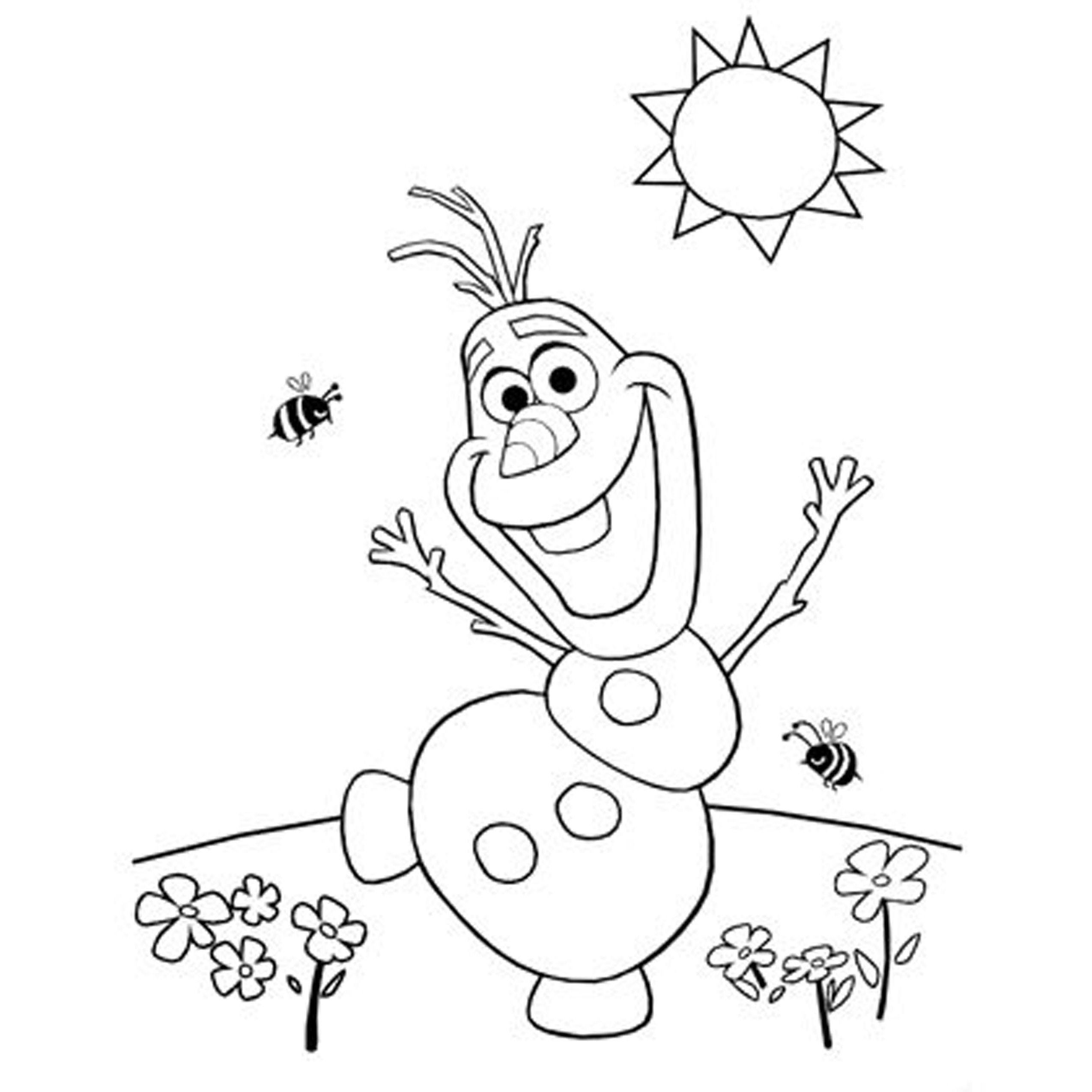 a coloring picture of frozen olaf from frozen drawing at getdrawings free download of frozen a picture coloring
