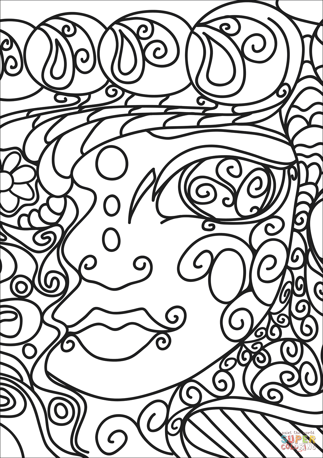 abstract art coloring pages printable abstract coloring page for adults high resolution free coloring abstract art pages printable