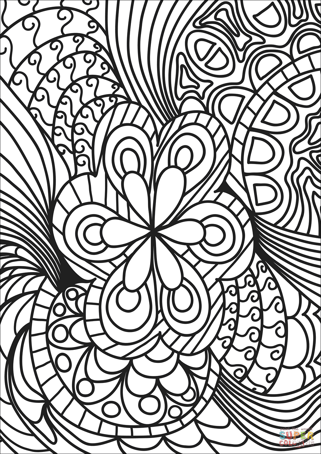 abstract coloring pages to print abstract doodle coloring page free printable coloring pages abstract to pages print coloring