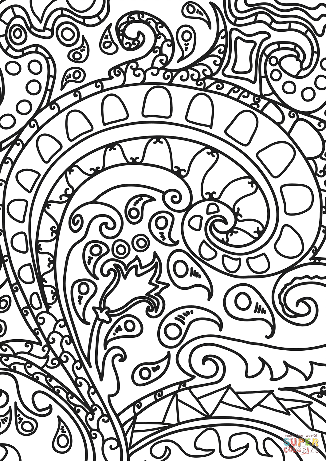 abstract coloring pages to print abstract doodle coloring page free printable coloring pages to print abstract pages coloring