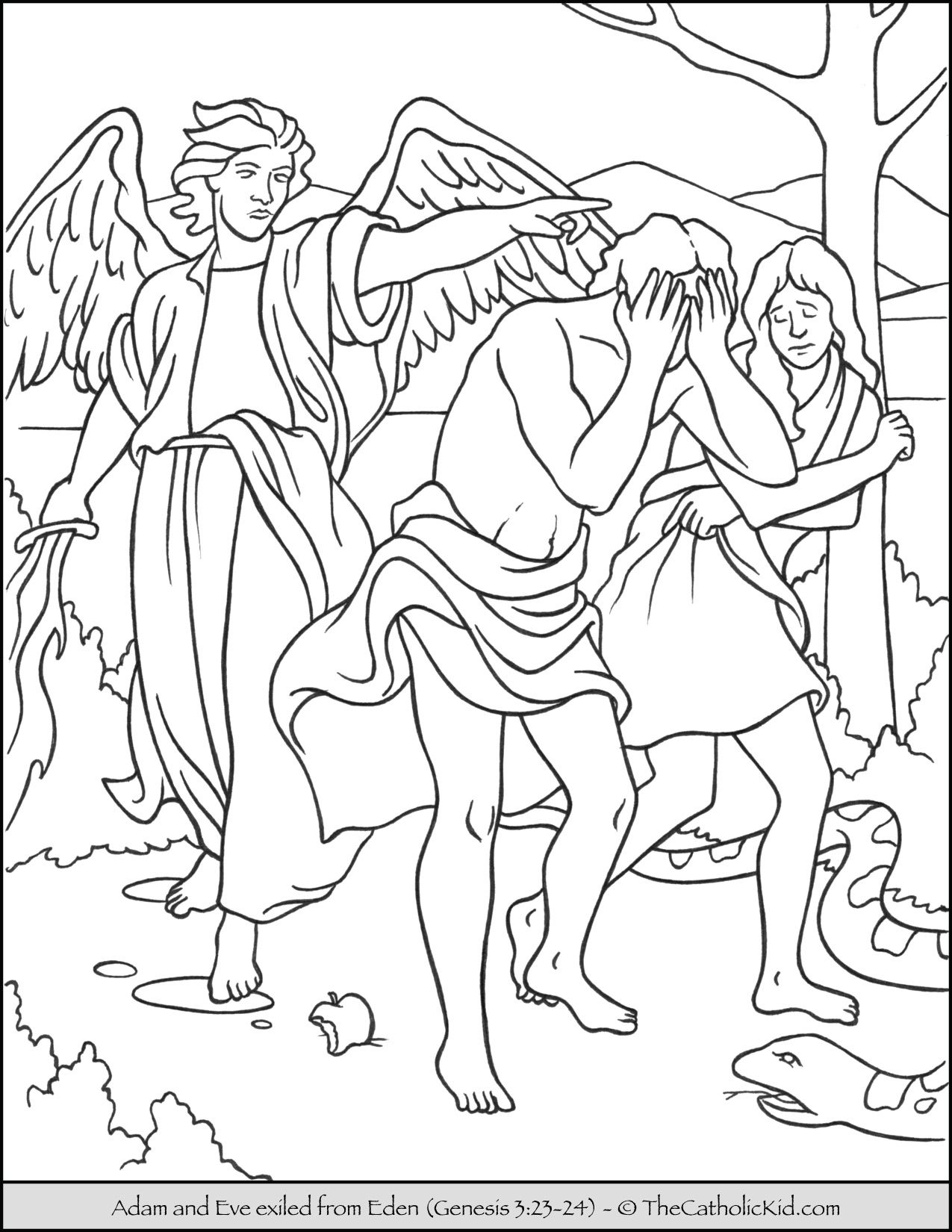 adam and eve coloring page cain abel 1 caim e abel english class pinterest page eve adam coloring and