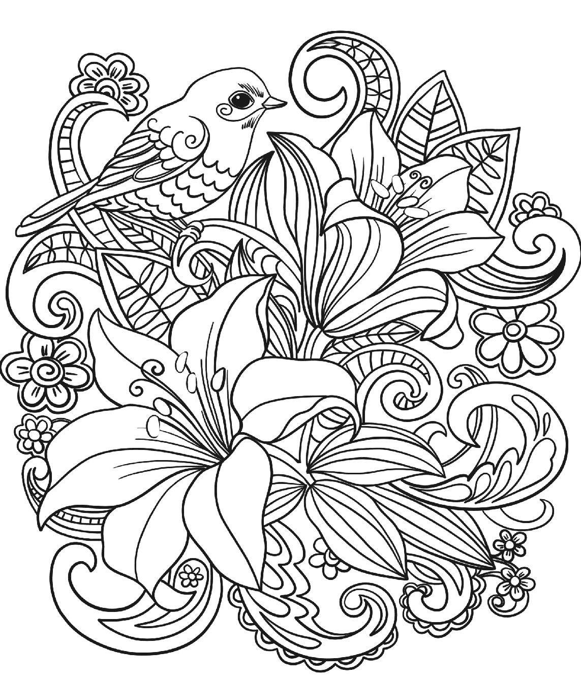 adult coloring pages flowers adult coloring a tangle of flowers set of 8 by emerlyearts adult coloring pages flowers
