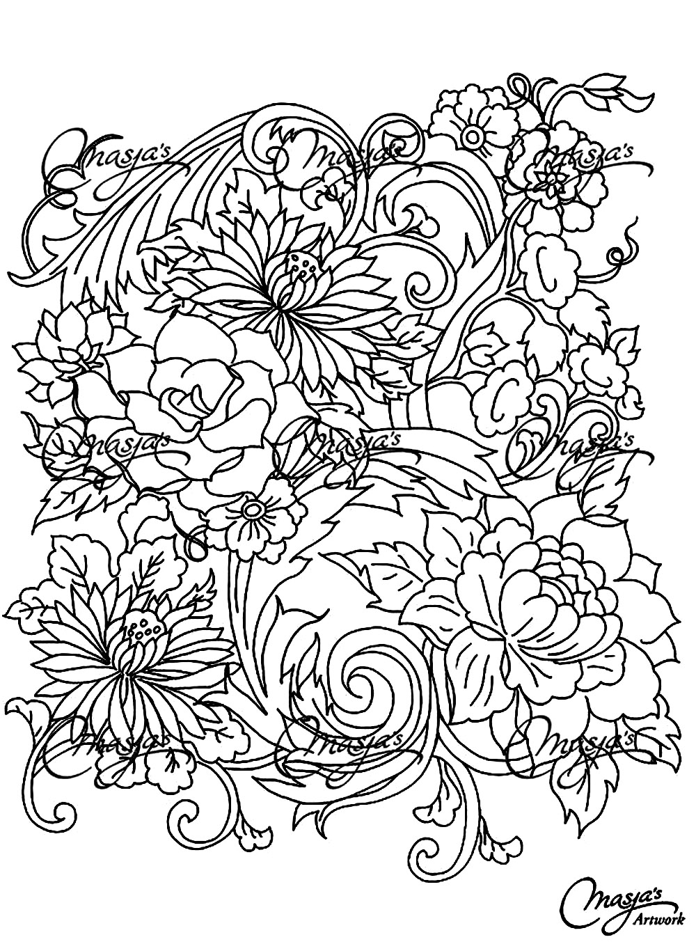 adult coloring pages flowers drawing flower flowers adult coloring pages page 4 pages coloring adult flowers