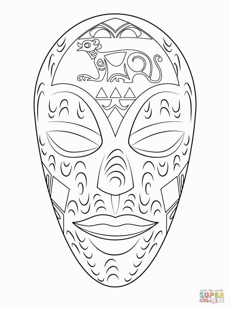african mask coloring sheets african mask coloring page coloring home african sheets mask coloring