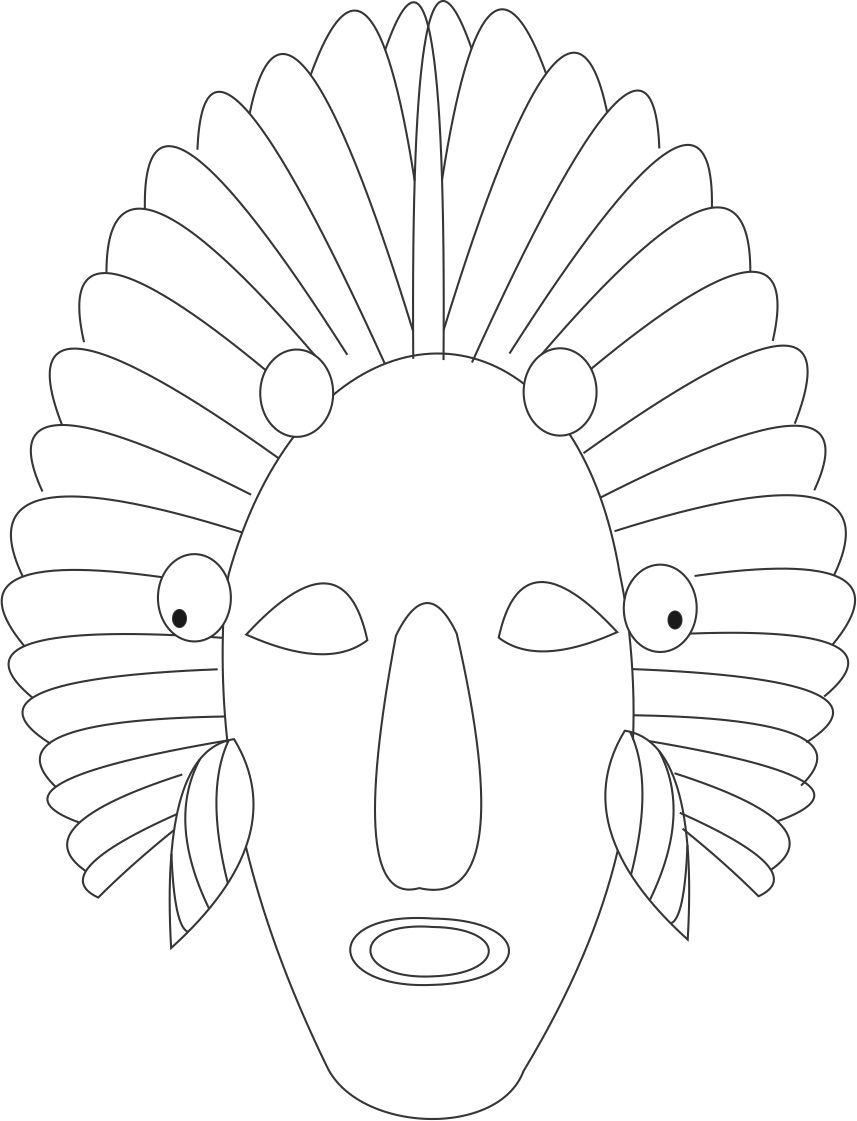 african mask coloring sheets african tribal mask template african mask from coloring mask sheets coloring african