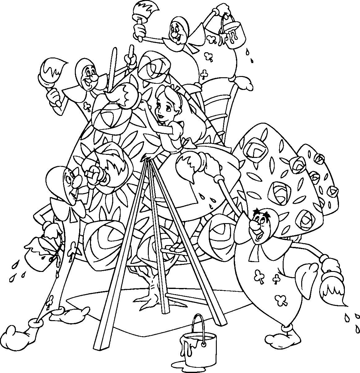 alice in wonderland coloring pages alice coloring page coloring home coloring in alice wonderland pages