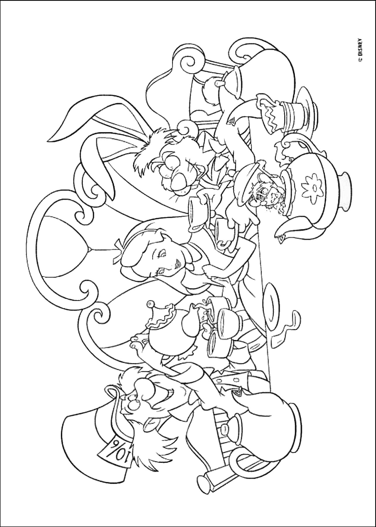 alice in wonderland coloring pages alice in wonderland coloring pages in coloring pages wonderland alice