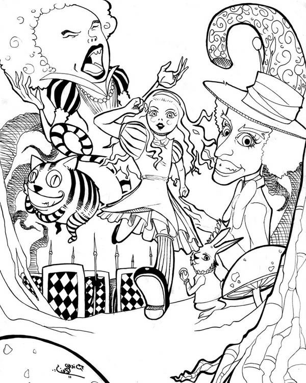 alice in wonderland coloring pages alice in wonderland coloring pages pages alice in coloring wonderland