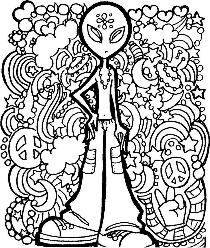 alien hippie coloring pages awesome easy stoner 420 drawings pixaby alien pages coloring hippie