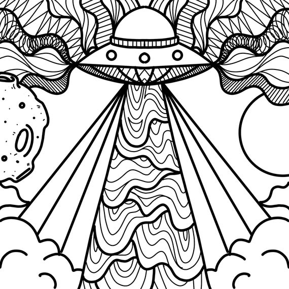 alien hippie coloring pages items similar to trippy coloring pages on etsy alien hippie coloring pages