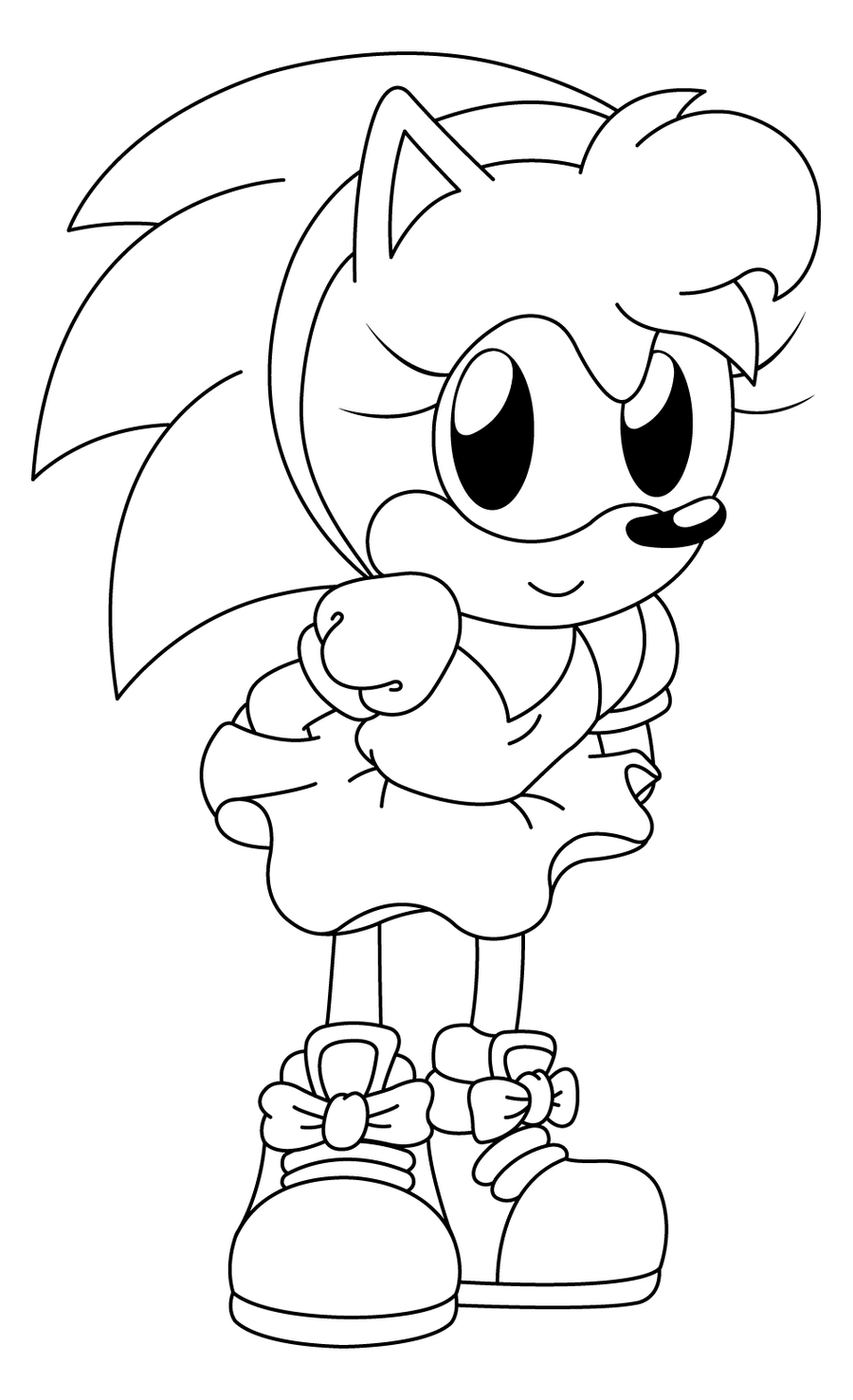 amy rose coloring pages amy rose coloring pages to download and print for free coloring rose amy pages