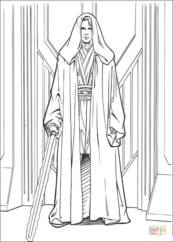 anakin skywalker coloring pages anakin skywalker from star wars with two lightsabers anakin skywalker pages coloring