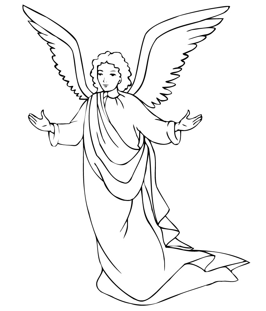 angel colouring 20 free printable angel coloring pages for adults colouring angel 1 1