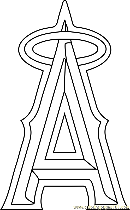 angels baseball coloring pages anaheim angels logo coloring page free printable pages coloring baseball angels