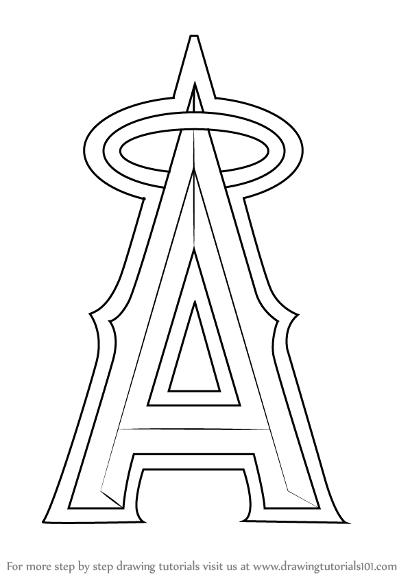 angels baseball coloring pages mlb los angeles angels of anaheim logo coloring pages angels baseball pages coloring