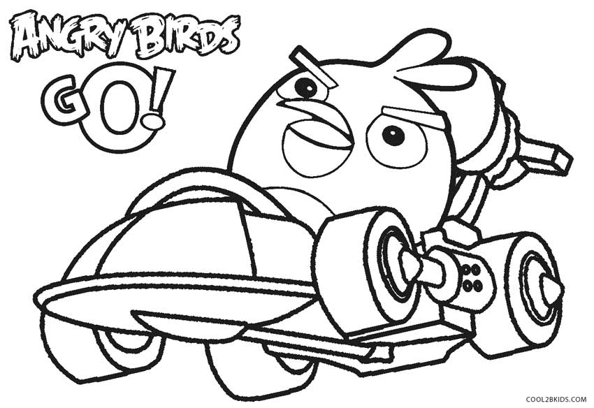 angry birds go colouring pages go kart coloring pages at getcoloringscom free pages angry birds go colouring