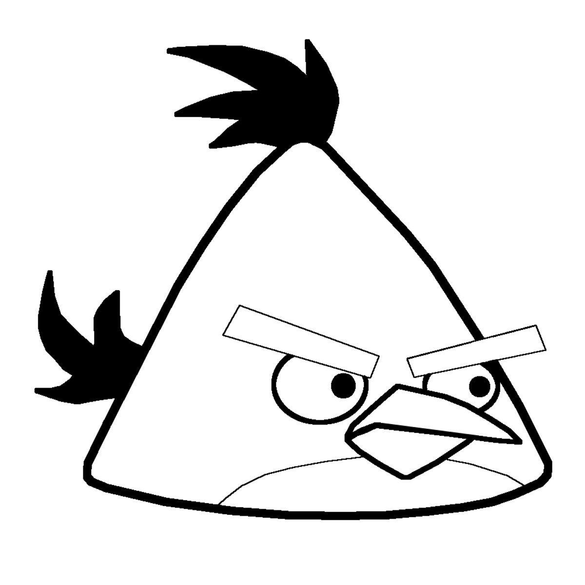 angry birds outline bird outline printable coloring home outline angry birds