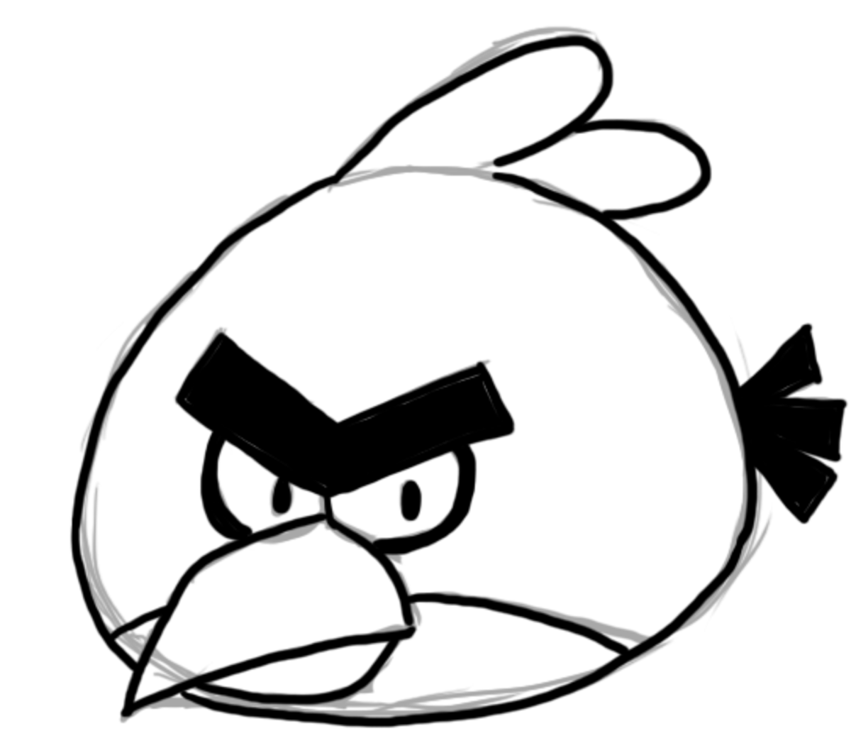 angry birds outline free angry birds black and white download free clip art angry birds outline
