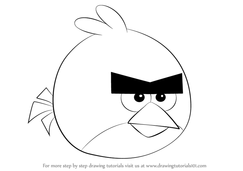 angry birds outline learn how to draw stella from angry birds angry birds birds outline angry