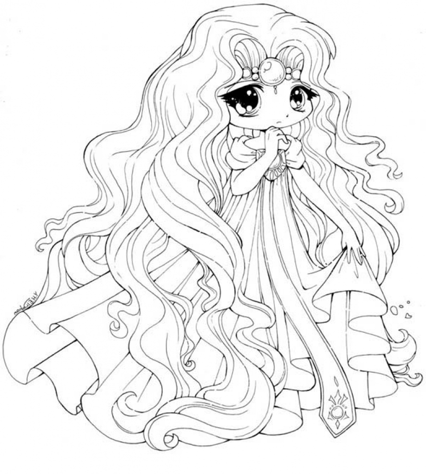 anime coloring pages easy chibi anime girl drawing at getdrawings free download anime easy coloring pages