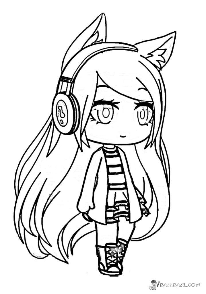 anime coloring pages easy chibi fox girl lineart by joakaha on deviantart easy anime coloring pages