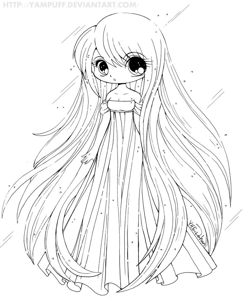 anime coloring pages easy chibi girl lineart by chrishchrish on deviantart easy anime coloring pages