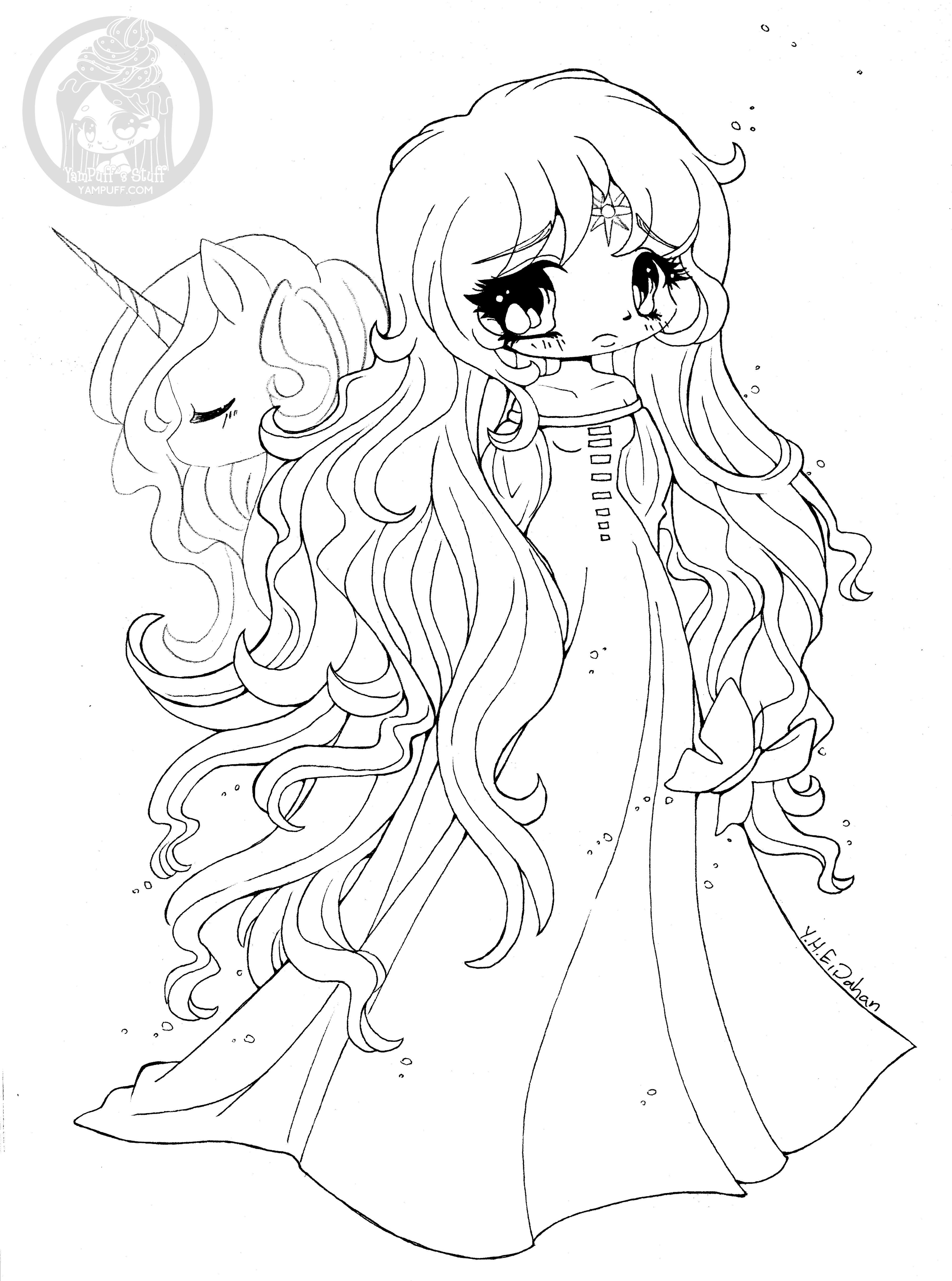 anime unicorn girl coloring pages 17 best images about unicorns to color on pinterest unicorn pages girl coloring anime