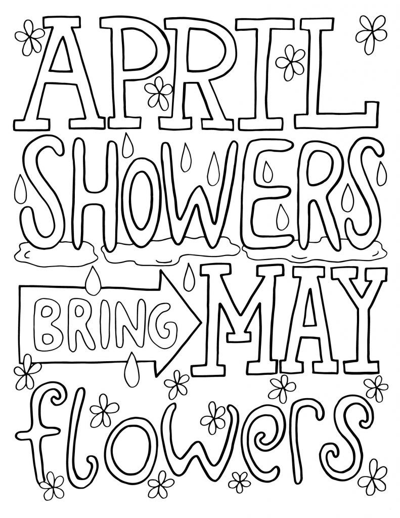 april coloring pages april month for spring coloring page kids play color pages april coloring