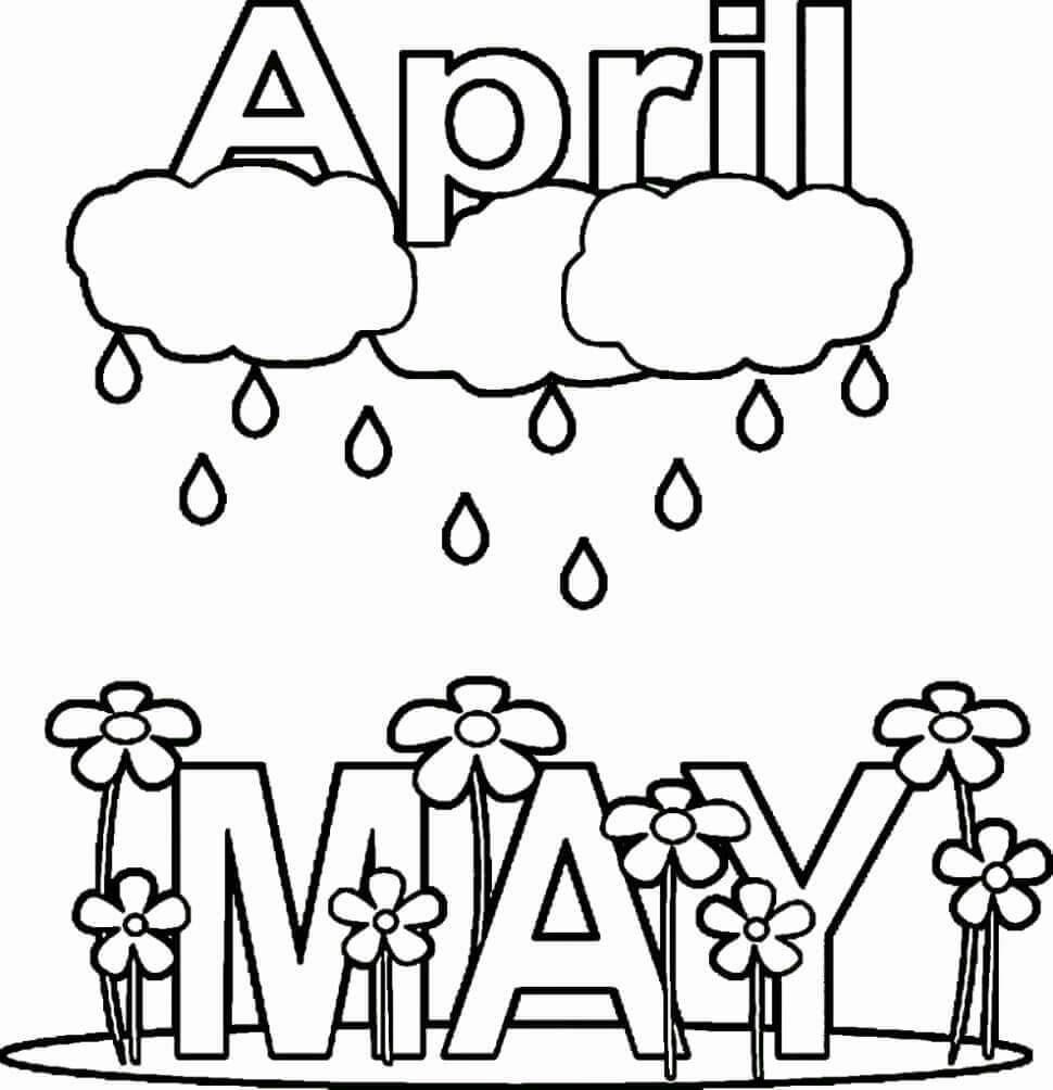 april coloring pages april showers bring may flowers coloring page at coloring april pages