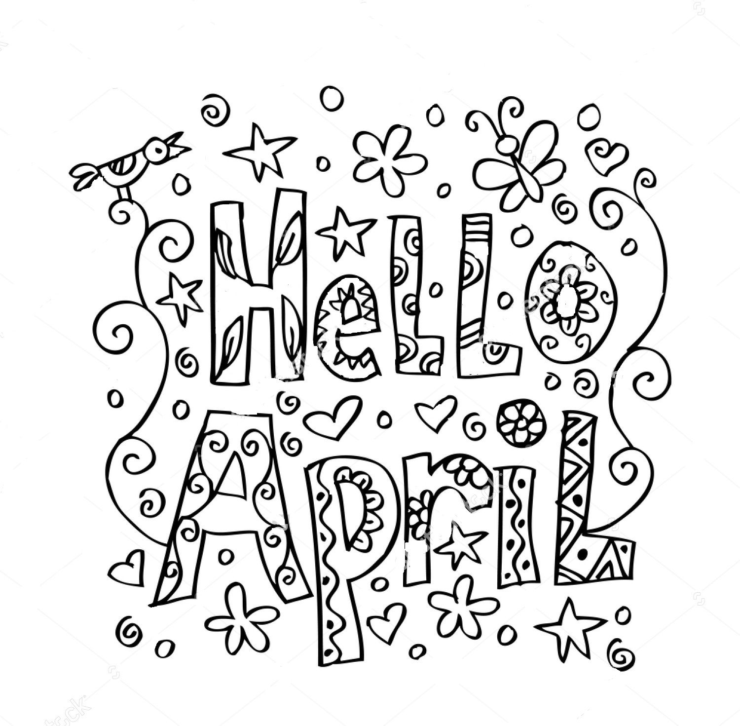 april coloring pages coloring pages for kids by mr adron month of april free pages april coloring