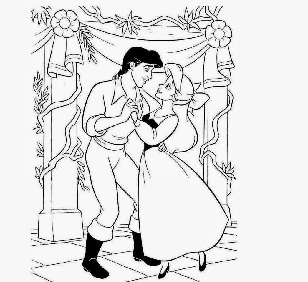 ariel and eric coloring pages ariel and prince eric coloring pages to download and print and ariel pages coloring eric