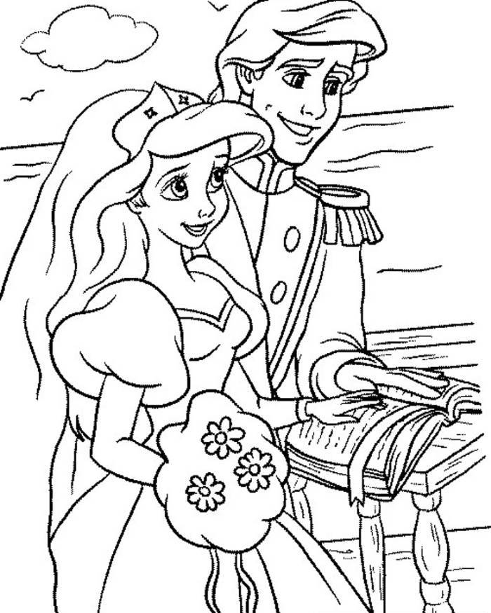 ariel and eric coloring pages ariel little mermaid coloring pages coloring home and pages coloring ariel eric