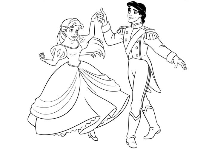 ariel and eric coloring pages disney ariel and eric coloring pages getcoloringpagescom pages and ariel eric coloring