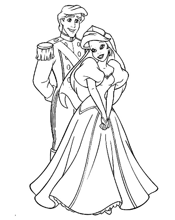 ariel and eric coloring pages disney princess ariel and eric coloring pages at eric ariel coloring and pages