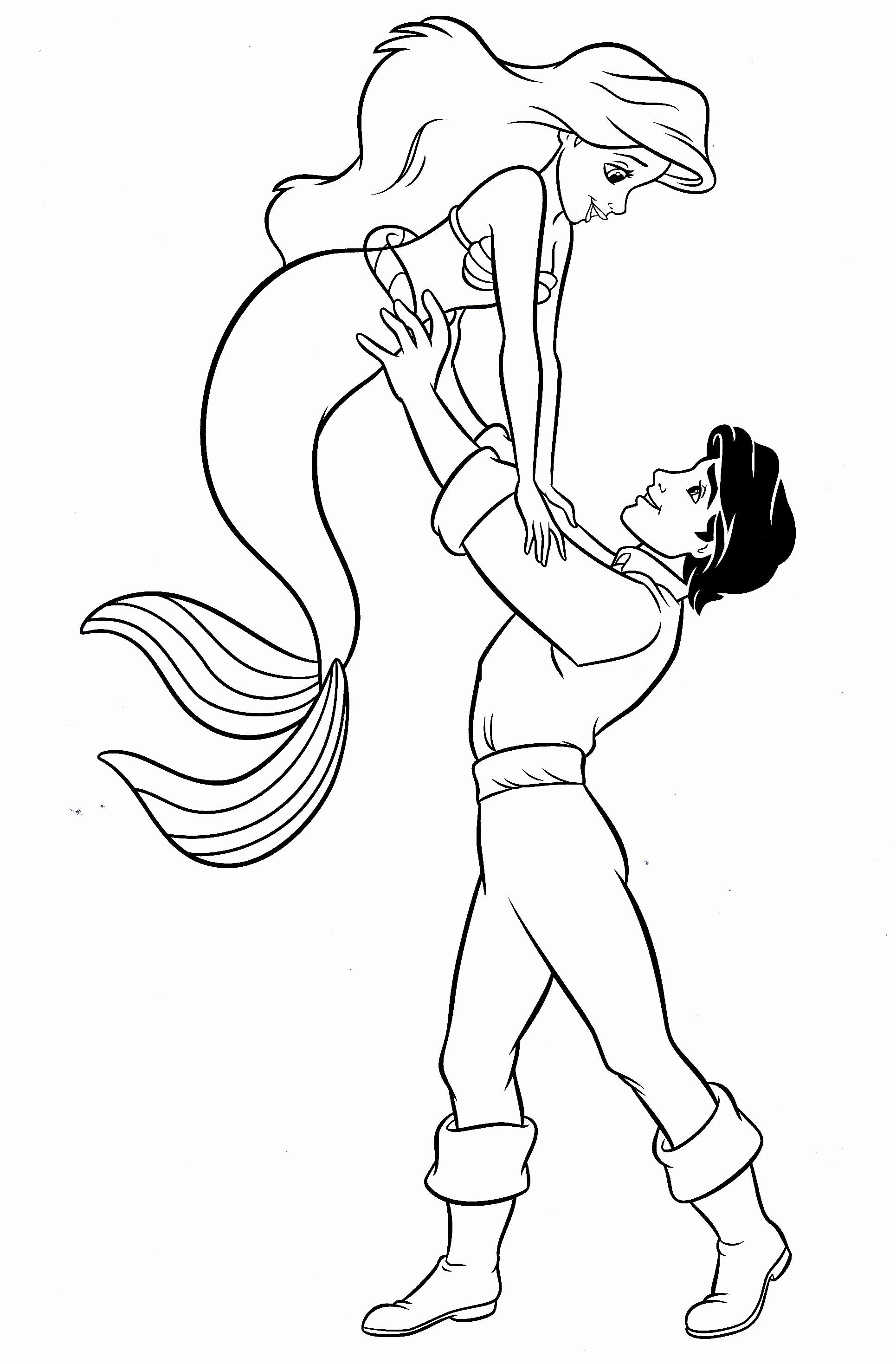 ariel and eric coloring pages eric and ariel wedding day little mermaid coloring page coloring and pages eric ariel