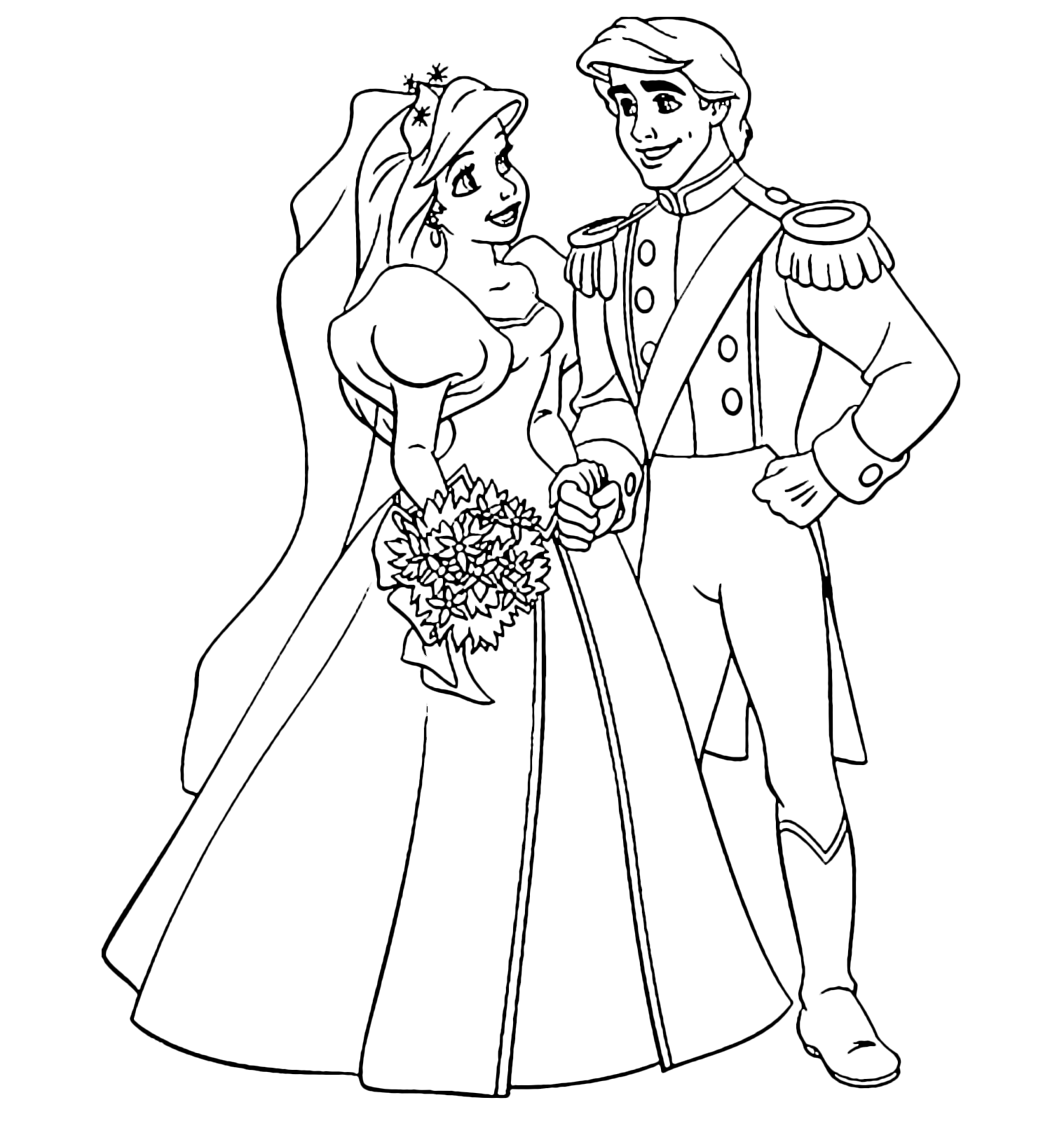 ariel and eric coloring pages princess and prince coloring pages princess coloring and ariel pages eric coloring