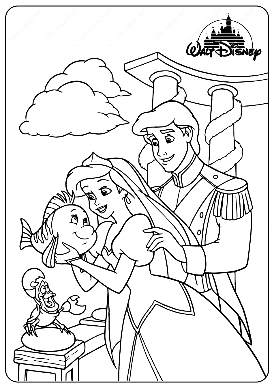ariel and eric coloring pages printable ariel and prince eric coloring pages coloring pages and ariel eric