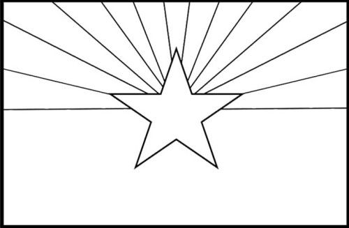 arizona state flag coloring page 17 best images about arizona state report on pinterest state page flag coloring arizona
