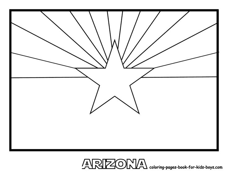 arizona state flag coloring page state flag coloring book page social studies pinterest flag page arizona coloring state